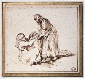 Rembrandt-Healing-of-the-Mother-in-Law-of-Saint-Peter-late-1650s